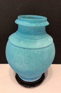 "Richard Boyd ~ ""Wheel Thrown Reticulated Glazed Vase"" ~ Cone 04 Oxidation"