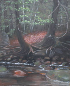 "Amy Bickford ~ 'Deep in the Woods' ~ Gouach 20"" x 16"""