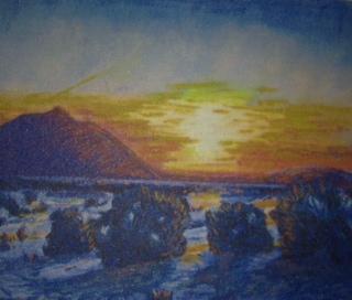 """Winter Sunset"" by Bob Santandrea"