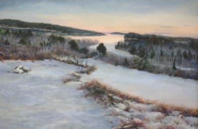 "Jane Herbert ~ 'December Twilight' ~ Acrylic on Canvas 18"" x 24"""