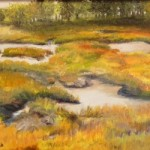 "Felicity Sidwell ~ ""October Marsh"" ~ Oil on Canvas ~ 16"" x 20"""