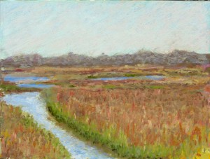 "Bob Santandrea ~ ""Salt Marsh"" ~ Pastel on Paper 15"" x 18"""