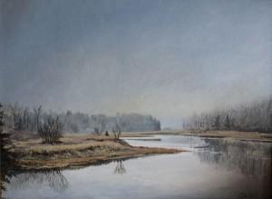 "Jane Herbert ~ ""Stillness"" ~ Acrylic on Canvas 18"" x 24"""