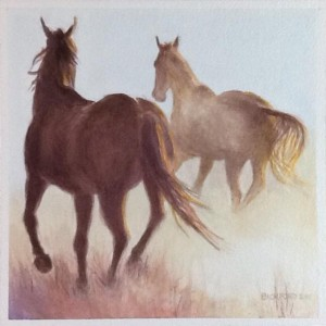 "Amy Bickford ~ ""Dusty Day"" ~ 8.5"" x 8.5"" Watercolor on Paper"