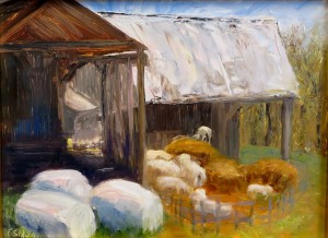"Felicity Sidwell ~ ""Spring Lambs"" ~ Plein Air Oil on Panel 9"" x 12"""