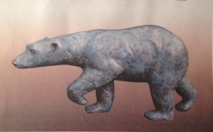 "Charles Ellithorpe, DVM ~ ""Ice Bear"" ~ Bronze Sculpture 14""L x 8""H"