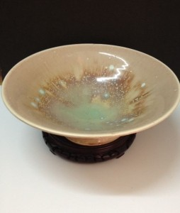 Richard Boyd - High Fire Porcelain. Peach Crystalline Glaze Series. Cone 9 Oxidation.