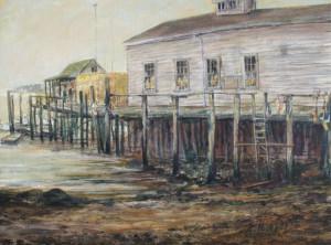 """Jane Herbert ~ """"Friendly Spot"""" ~ Acrylic on Canvas Board 12"""" x 6"""""""