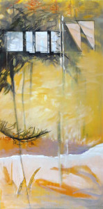 "Pat Chandler ~ ""Yellow Morning II"" ~ Mixed Media 48"" x 24"""