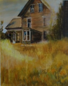 "Pat Chandler ~ ""Old House"" ~ Mixed Media 13.5"" x 10.75"""