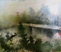 "Pat Chandler ~ 'Singing Bridge' ~ 14"" x 12.5"""