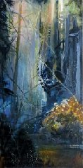 "Pat Chandler ~ 'Autumn Light' ~ Oil on Panel 48"" x 24"""