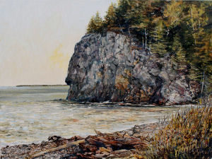 "Jane Herbert ~ ""Below Owls Head"" ~ Acrylic on Canvas 12"" x 16"""