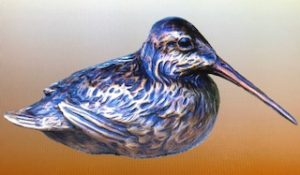 "Charles Ellithorpe, DVM ~ ""Woodcock"" ~ Bronze Sculpture - Life Size # 12 of 30"