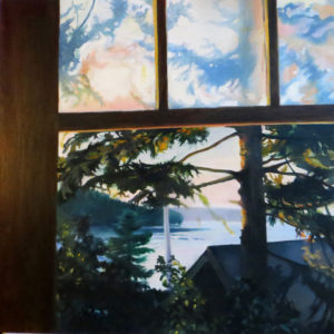 "Patricia Chandler ~ ""Dawn Window"" ~ Oil on Panel 21.5"" x 21.5"""