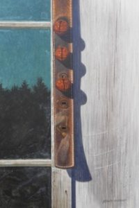 "Randy Eckard ~ ""Door Bells"" ~ Watercolor on Paper 12"" x 8"""