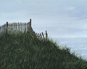"Amy Bickford ~ ""Hazy Day"" Gouache on Gesso Board 8"" x 10'"
