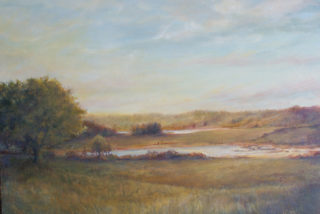 "Jane Herbert ~ 'Late Summer Sunset' ~ Acrylic on Canvas 18"" x 24"""